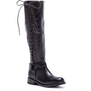 NWOT Bed Stu Burnley Knee-High Corset Boot Size 6